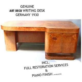 Genuine antique ART DECO Office Desk 1920s Germany - Stresemann