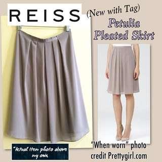 (NWT) Reiss Womens Orchid Petulia Pleated Skirt (US4)