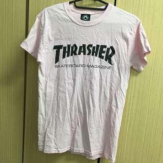 🚚 Thrasher粉色上衣s號 可議哦😊