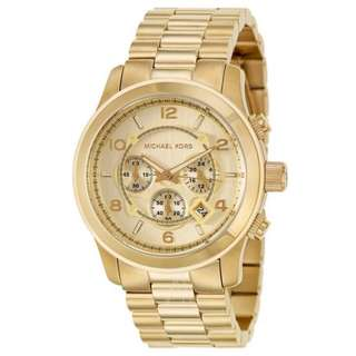 Michael Kors MK8077 Runway Chronograph Gold-Tone Men's Watch