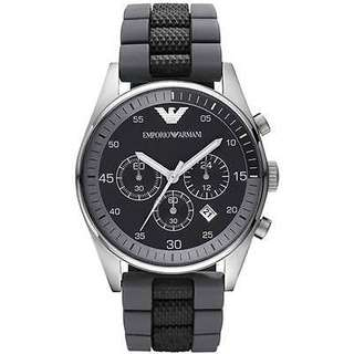 Emporio Armani Men's AR5866 Black Chronograph Dial Watch