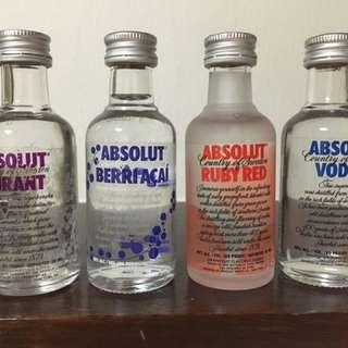 Full & Sealed Absolut Vodka Minis 50ml