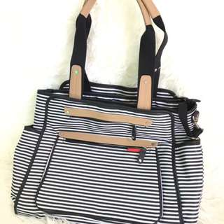 Skiphop diapers bag grand central stripes