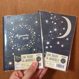 Starry Galaxy 2018 A6 schedule book planner journal agenda diary