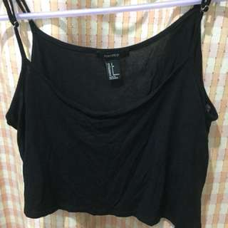 F21 black crop top
