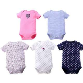 Carter's Fixed Design Romper/Onesie short sleeve Girls