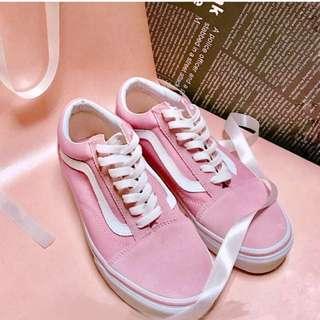 韓國限定粉色vans