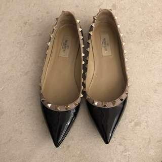 清屋平放 Valentino black flat size 36.5