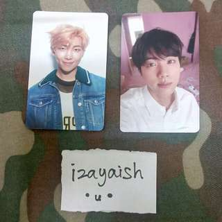 [WTT] BTS HER Love Yourself Photocards Jin and RM