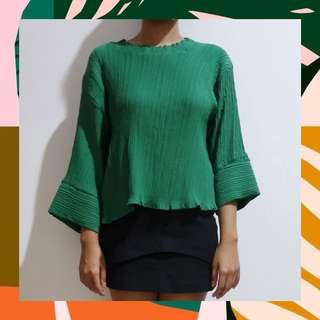 Green Pattern Blouse