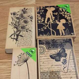 Hero Arts wooden stamps