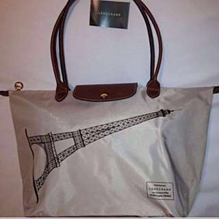 Longchamp Eiffel Tower Tote Bag Limited Edition