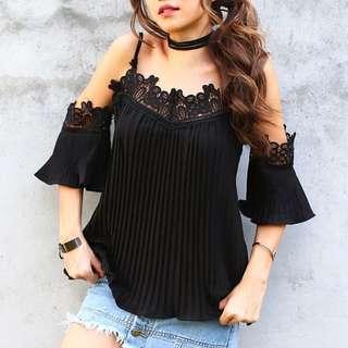 KIN Casva Crochet Lace Top (Freesize)