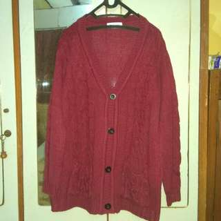Tumblr Cardigan Maroon