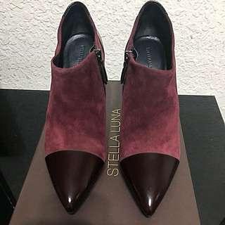 🚚 Stella Luna 酒紅色裸靴