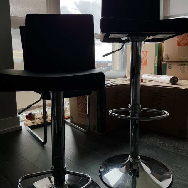 2 two Black bar stools for sale