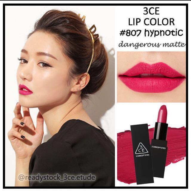 3CE Dangerous Matte Lipstick in 807 Hypnotic