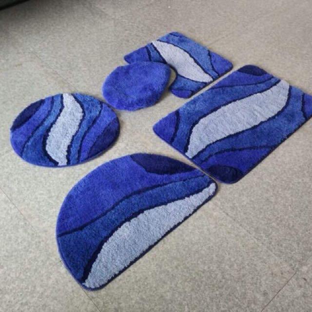 5 pieces bath mat