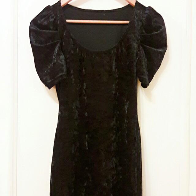 絲光絨禮服洋裝