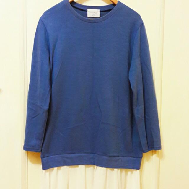 正韓寶藍長版衣