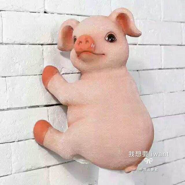 我想要🔸萌萌豬創意壁掛捲筒衛生紙架 防水浴室衛生紙架