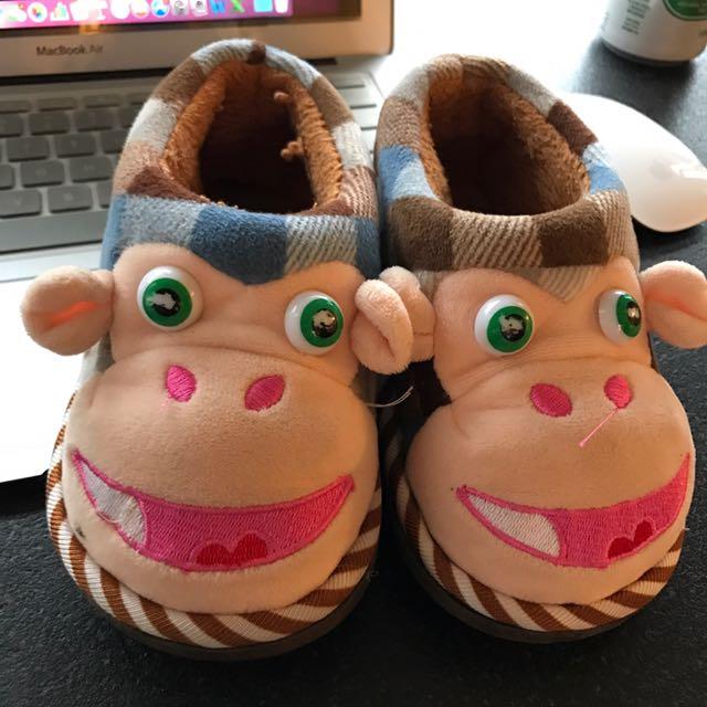 二手 拖鞋 幼童 室內拖鞋 幼稚園 冬天 冬季