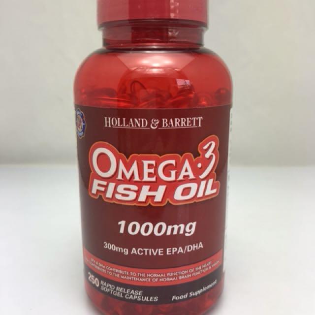現貨特價 英國Holland & Parrett Omega-3魚油膠囊 1000mg