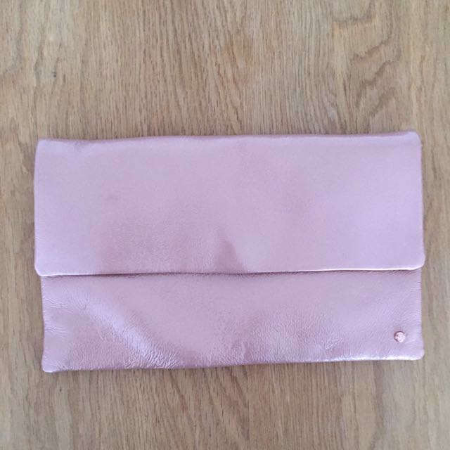 Alannah Hill Pink Metallic Clutch