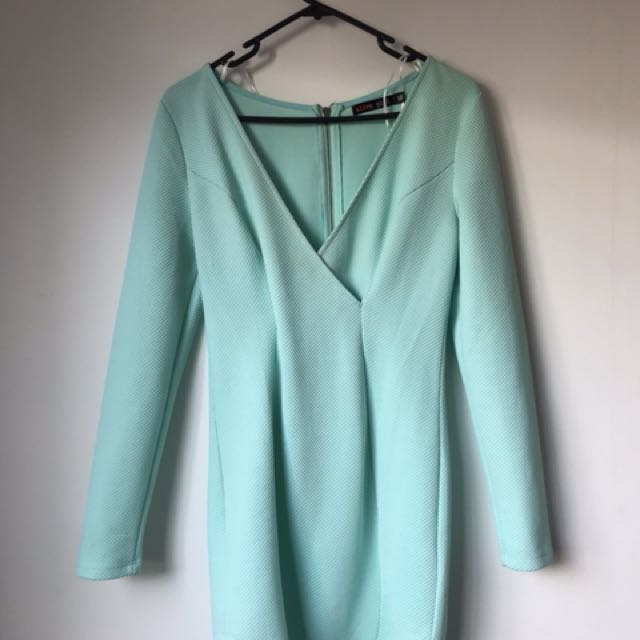 Alive Girl Mint Green Mini Dress
