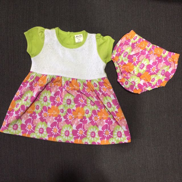 Anakku Signature Dress and Bloomer Set (0-6m)