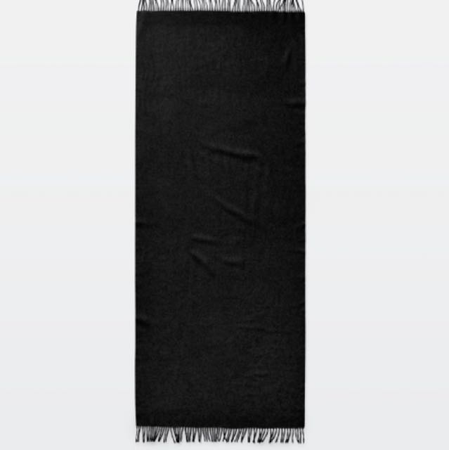 Aritzia gasparin scarf heather black