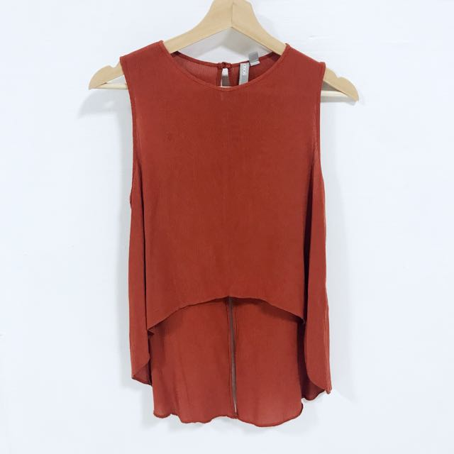 f023d7e52bc3a3 ASOS Basic Burnt Orange Tank