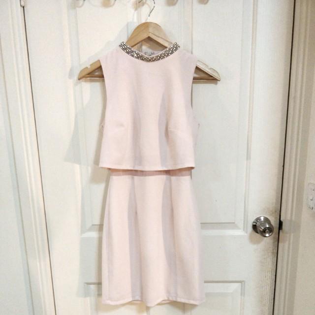 ASOS Pale Pink Work Dress - Size 6