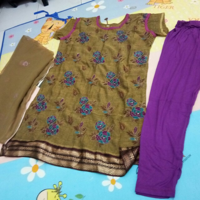 Baju India 1 set atasan+ legging +slendang
