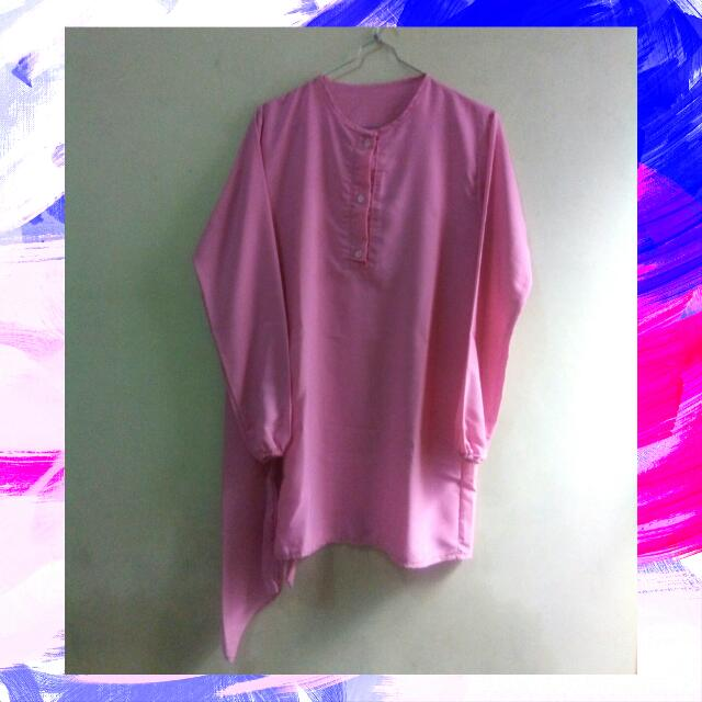 BAJU OLSHOP Pink Long Blouse