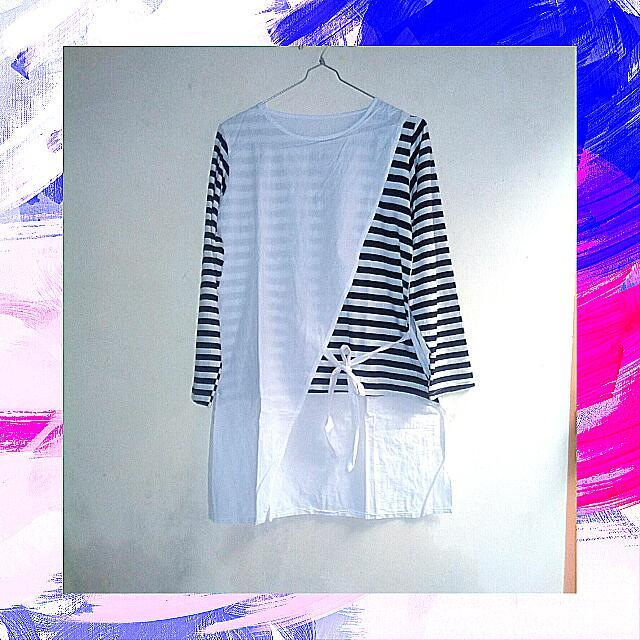 BAJU OLSHOP White Stripe