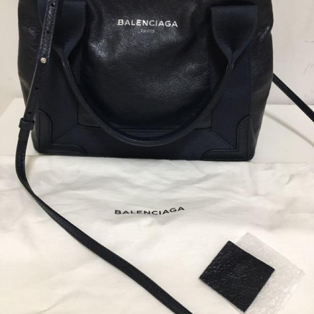 Balenciaga navy xs 羊皮三用包