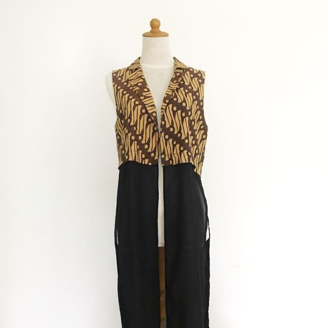 Batik - chiffon vest