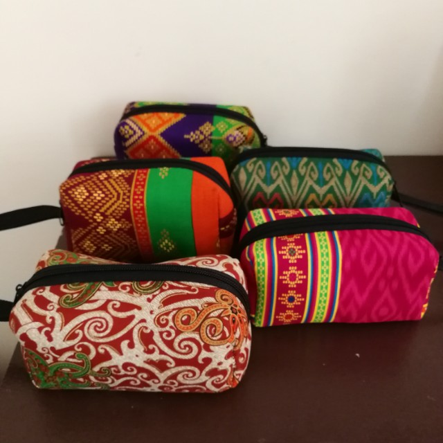 Batik Make up travel pouch