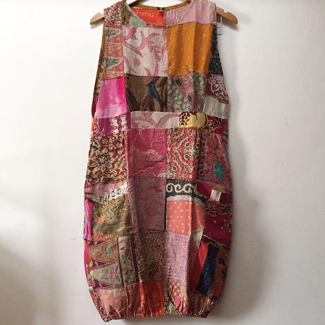 Batik Patch Dress