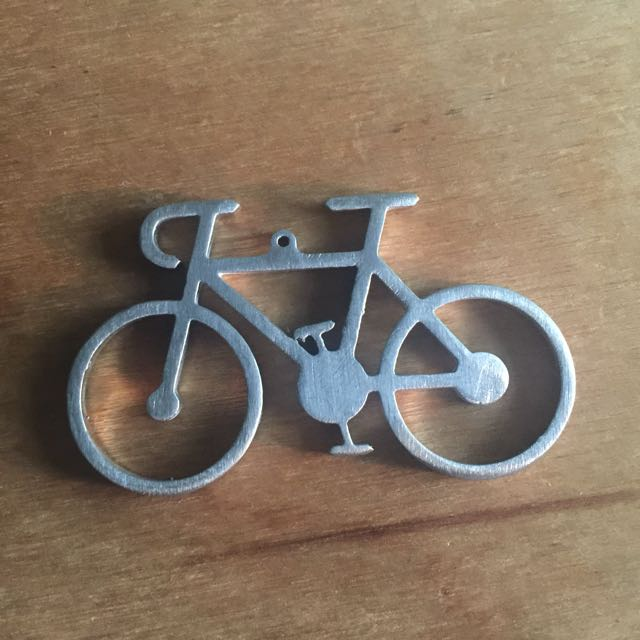Bicycle road bike stainless steel keychain