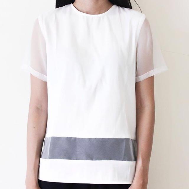 Blanc White Top Shirt