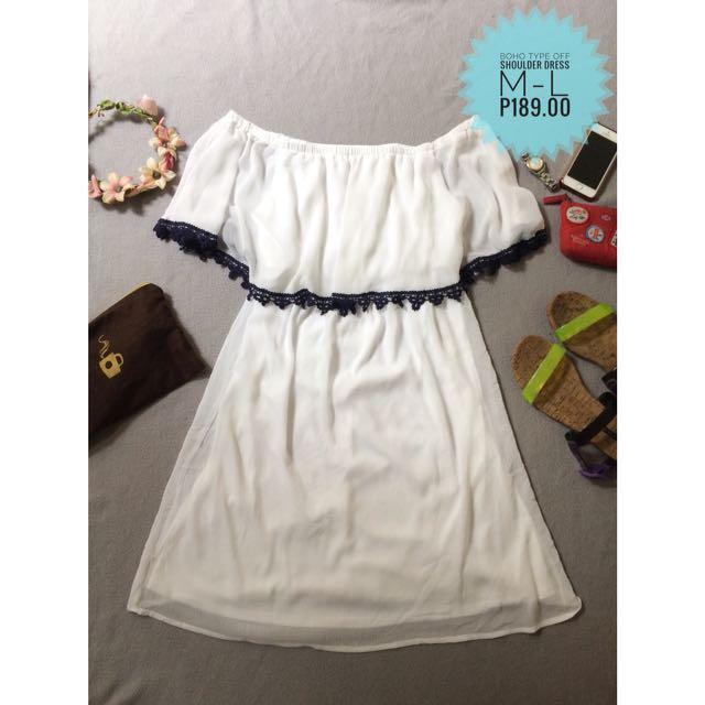 BOHO TYPE OFF SHOULDER DRESS
