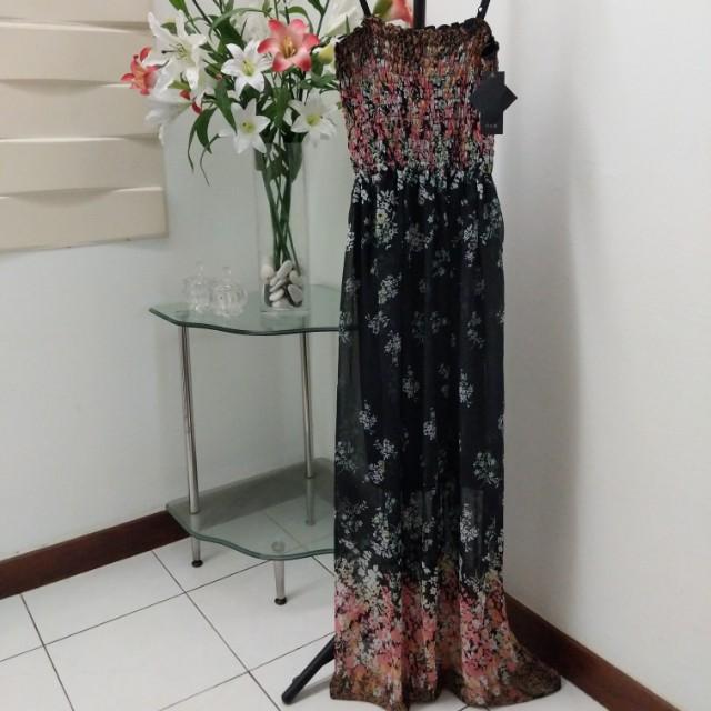 Brand new black sakura dress