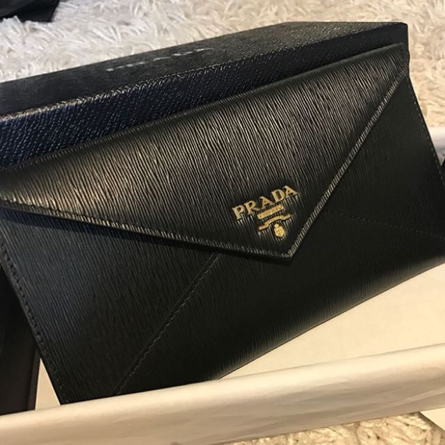 f0bbee68a205 Brand new prada envelope, Women's Fashion, Bags & Wallets on Carousell