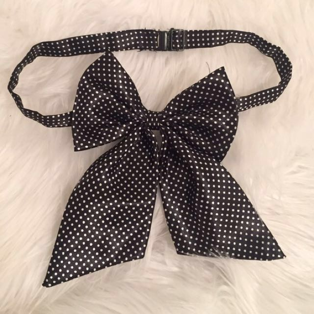 Butterfly Black Polkadots Bow Ties 03