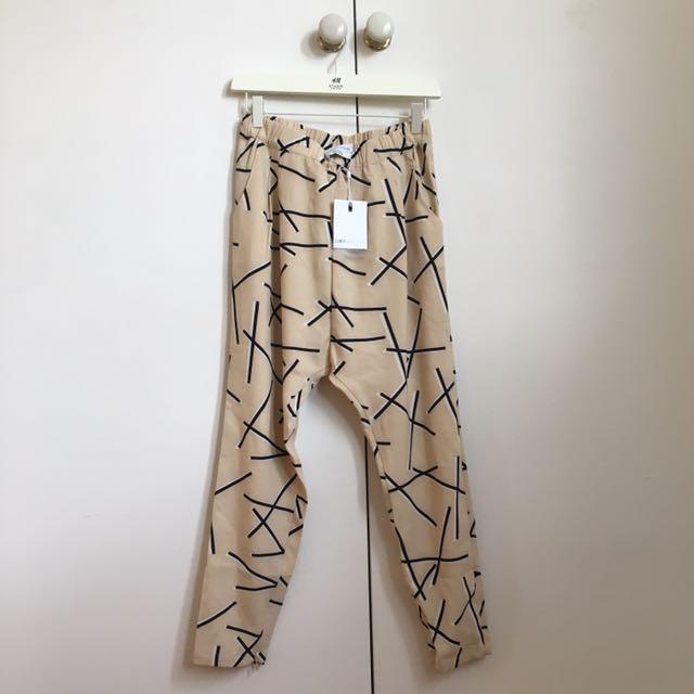 CAMEO COLLECTIVE Pink/Blush Printed Pants NWT S
