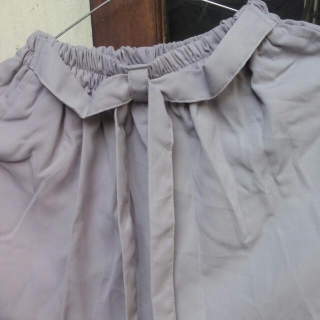 Celana bahan / celana joger / celana wanita warna abu