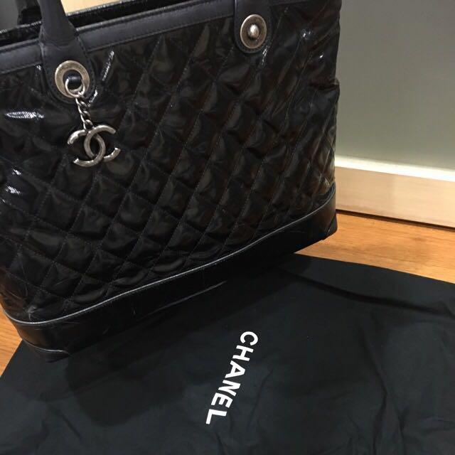 Chanel超美復古銀鏈托特包