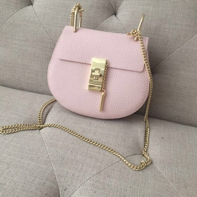 Chloe Drew Inspired Pink Purse Real Leather